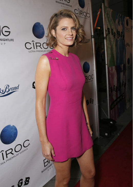 Stana Katic of ABC&#39;s &#39;Castle&#39; attends the West Coast premiere of &#39;CBGB,&#39; in which she plays rock singer Genya Ravan, at the ArcLight Hollywood theater in Los Angeles on Tuesday, Oct. 1, 2013. The event was sponsored by Ciroc. <span class=meta>(Todd Williamson &#47; Invision for Ciroc &#47; AP)</span>