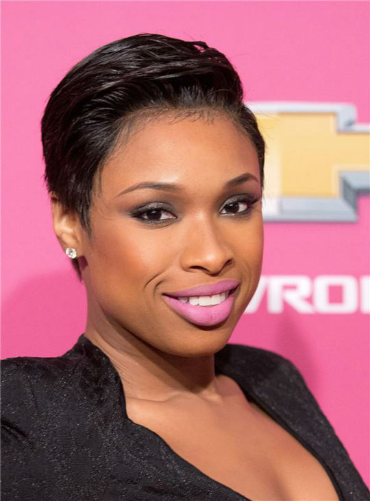 Jennifer Hudson debuts a short hairstyle at BET's 2013 Black Girls Rock event at the New Jersey Performing Arts Center in Newark, New Jersey on Oct. 26,