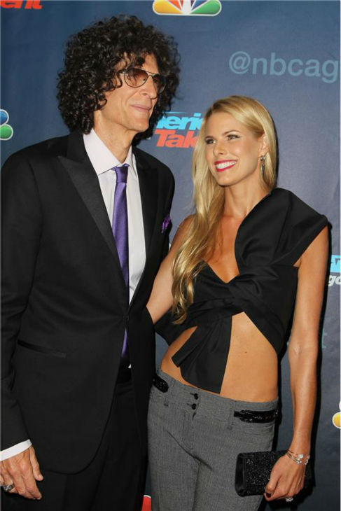America&#39;s Got Talent&#39; co-judge Howard Stern and Beth Ostrosky Stern pose on the red carpet after the season 8 finale at Radio City Music Hall in New York on Sept. 18, 2013. <span class=meta>(Amanda Schwab &#47; Startraksphoto.com)</span>