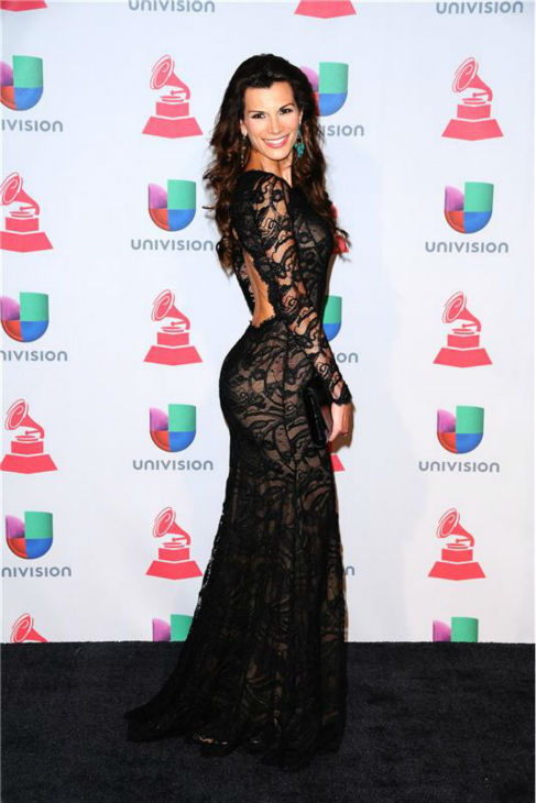 "<div class=""meta ""><span class=""caption-text "">Cristina Bernal arrives at the 2013 Latin Grammy Awards at the Mandalay Bay Hotel and Casino in Las Vegas on Nov. 21, 2013. (Dave Proctor / Startraksphoto.com)</span></div>"