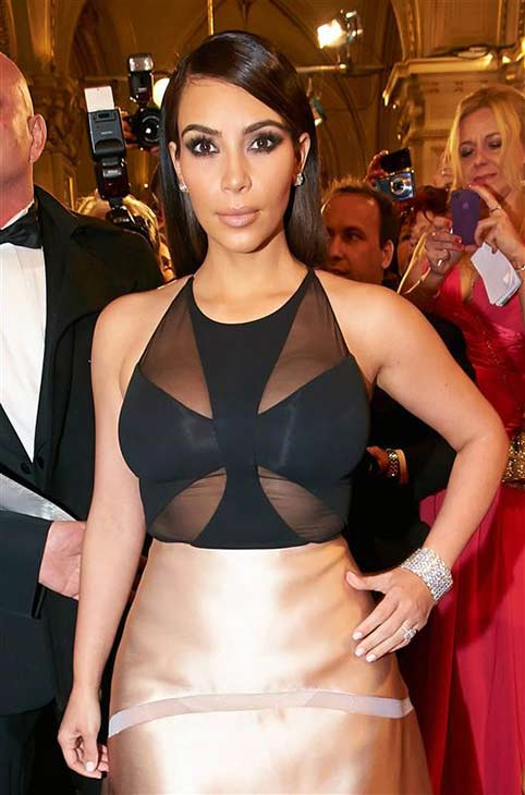 Kim Kardashian appears at the 2014 Vienna Opera Ball on Feb. 27, 2014.