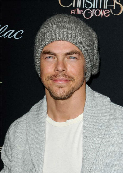 Derek Hough of ABC&#39;s &#39;Dancing With The Stars&#39; appears at the 11th annual Christmas Tree Lighting Spectacular event at The Grove shopping mall in Los Angeles on Nov. 17, 2013. <span class=meta>(Daniel Robertson &#47; Startraksphoto.com)</span>