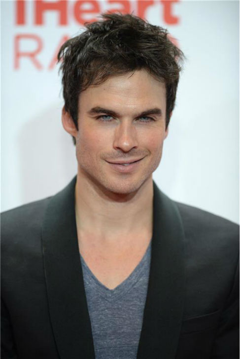 The 'I-Heart-Ian-Somerhalder' stare: Ian Somerhalder appears at the 2013 iHeartRadio Music Festival at the MGM Grand Arena in Las Vegas on Sept. 21, 2013.