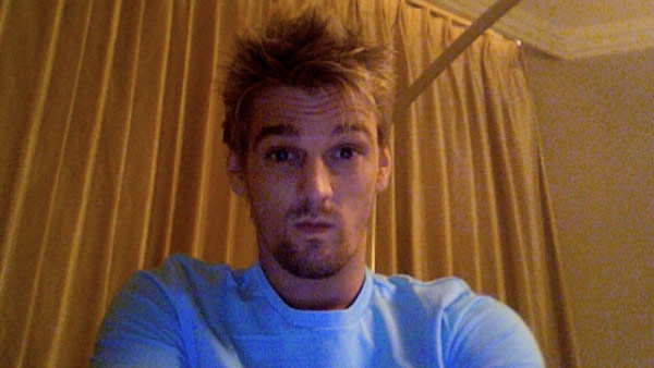 Aaron Carter appears in a photo from his official Twitter page.
