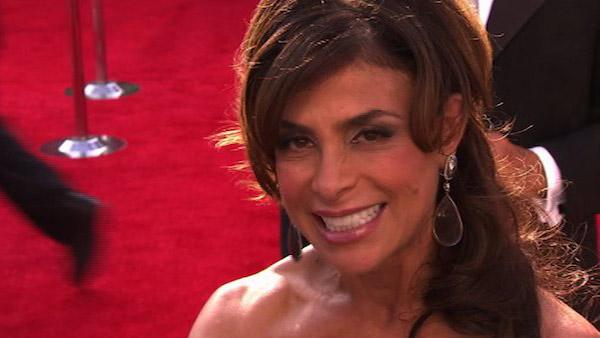 Paula Abdul speaks to OnTheRedCarpet.com at the...