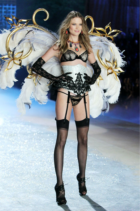 Behati Prinsloo walks the runway at the 2012 Victoria&#39;s Secret Fashion Show in New York City on Nov. 7, 2013. <span class=meta>(Amanda Schwab &#47; startraksphoto.com)</span>