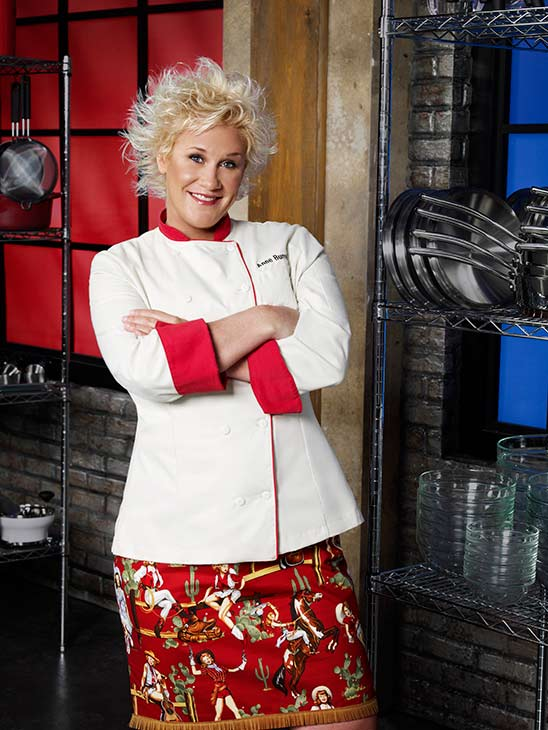 Anne Burrell appears in a publicity photo provided by the Food Network.
