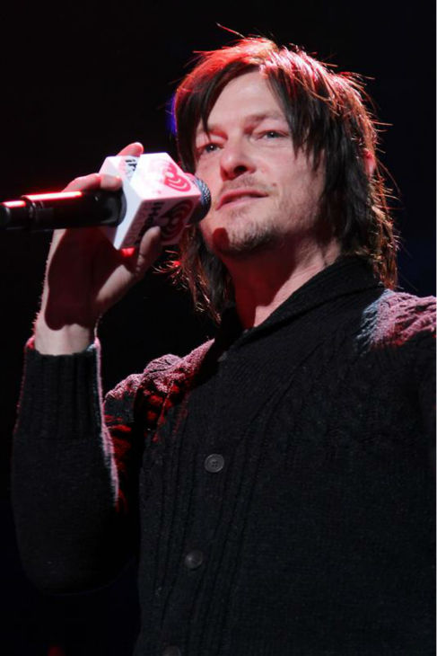 Norman Reedus, who plays Daryl Dixon on AMC&#39;s &#39;The Walking Dead,&#39; appears on stage at the 2013 Z100 Jingle Ball on Dec. 13, 2013 and introduces the band Paramore. Reedus later posted a screenshot of himself on stage on his Instagram page, saying: &#39;Thanks everyone that was fun. Madison square garden.&#39; <span class=meta>(Amanda Schwab &#47; Startraksphotos.com)</span>