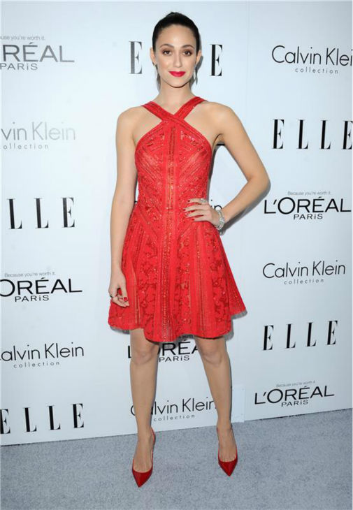 Emmy Rossum of 'Shameless' attends ELLE's 20th Annual Women In Hollywood gala in Beverly Hills, California on Oct. 21, 2013.