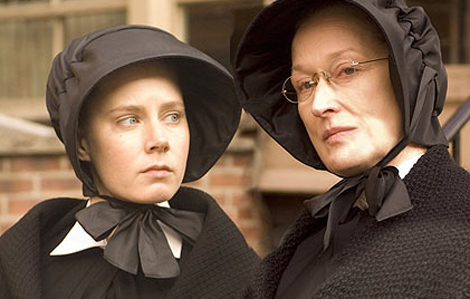 "<div class=""meta image-caption""><div class=""origin-logo origin-image ""><span></span></div><span class=""caption-text"">Amy Adams earned her second Oscar nomination for her role as Sister James, a teacher, in the 2008 movie 'Doubt.' The also starred Meryl Streep as the principal of a Bronx Catholic school, which comes under fire in 1964 amid a scandal involving a priest, played by Philip Seymour Hoffman, and an altarboy, portrayed by Joseph Foster. His mother is played by Viola Davis. She, Hoffman and Streep also received Oscar nods. (Goodspeed Productions / Scott Rudin Productions / Miramax Films)</span></div>"