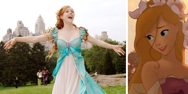 In 2007, Amy Adams appears as Princess Giselle in a scene from the half-animated Disney film &#39;Enchanted,&#39; which also allowed her to showcase her singing skills. <span class=meta>(Walt Disney Company)</span>