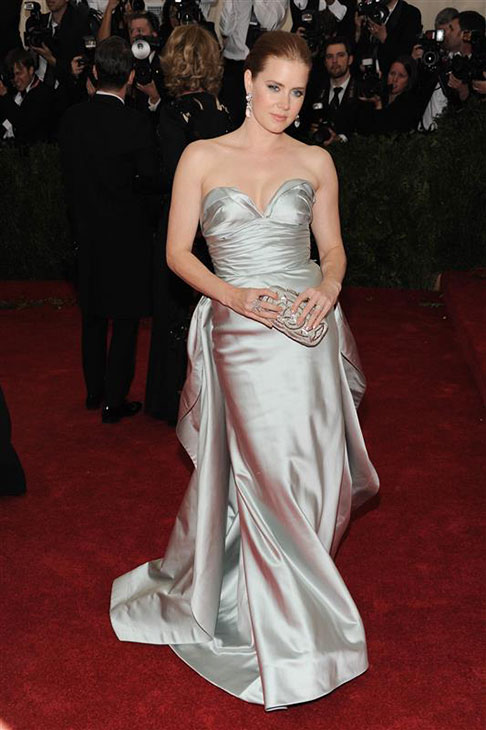 Amy Adams appears at the Metropolitan Museum of Art&#39;s 2014 Costume Institute Benefit gala, celebrating &#39;Charles James: Beyond Fashion,&#39; in New York on May 5, 2014. She is wearing an Oscar de la Renta gown. <span class=meta>(Bill Davila &#47; Startraksphoto.com)</span>