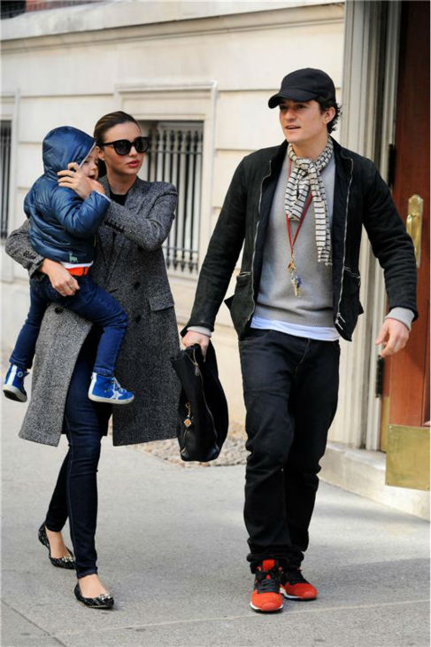 Orlando Bloom appears with wife Miranda Kerr and their son Flynn, 2, in New York City on Oct. 26, 2013. The actor&#39;s rep confirmed to OTRC.com a day earlier that the two had separated months ago. <span class=meta>(Ken Katz &#47; Startraksphoto.com)</span>