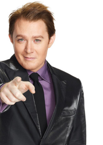 Clay Aiken appears in a promotional photo for the NBC series 'The Celebrity Apprentice' in 2012