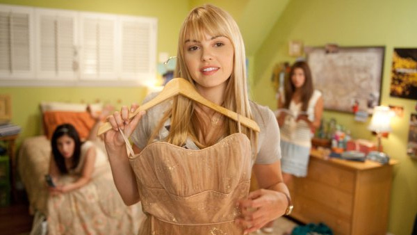 Aimee Teegarden appears in a scene from the 2011 film 'Prom.'