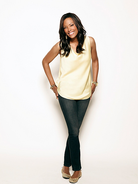 Aisha Tyler appears in a publicity photo for the CBS show 'The Talk.'