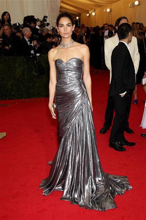 Victoria&#39;s Secret model Lily Aldridge appears at the Metropolitan Museum of Art&#39;s 2014 Costume Institute Benefit gala, celebrating &#39;Charles James: Beyond Fashion,&#39; in New York on May 5, 2014. <span class=meta>(Marion Curtis &#47; Startraksphoto.com)</span>