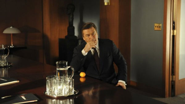 (Pictured: Alec Baldwin appears in a scene from the show '30 Rock.')