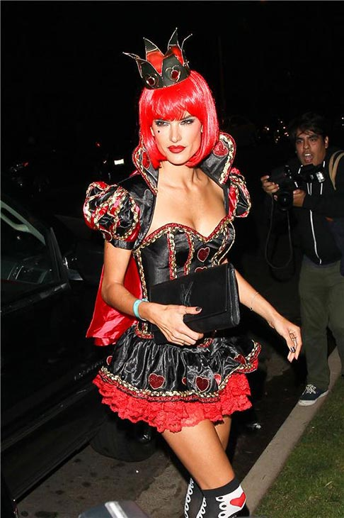 Victoria&#39;s Secret supermodel Alessandra Ambrosio appears at a Halloween party in Beverly Hills, California on Oct. 25, 2013. <span class=meta>(David Wright &#47; Startraksphoto.com)</span>