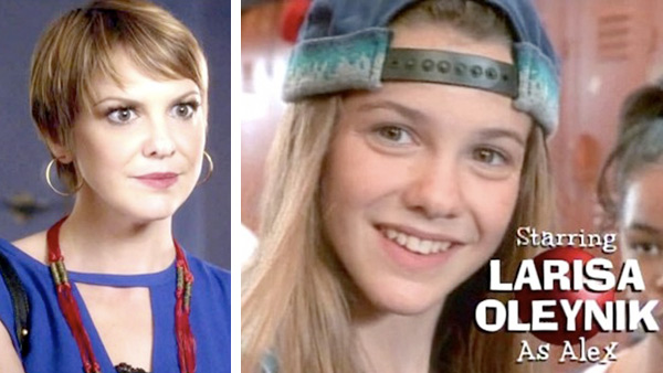 Larisa Oleynik played Alex Mack on the 1990s television series &#39;The Secret World of Alex Mack,&#39; a show about a young girl that got into a freak accident that left her with super powers &#40;pictured, right&#41;  Oleynik also played Dana Pruitt on the series &#39;Boy Meets World&#39; and Alissa Strudwick on &#39;3rd Rock from the Sun&#39; and Bianca Stratford on the 1999 teen comedy movie &#39;10 Things I Hate About You.&#39; She later had small parts on shows such as &#39;Without a Trace&#39; and &#39;Mad Men&#39; and played the recurring character of Jenna Kaye on the remake of &#39;Hawaii Five-O&#39; in 2011. In 2012 and 2013, she played Maggie on ABC Family&#39;s &#39;Pretty Little Liars.&#39; &#40;pictured, left&#41; She graduated from Sarah Lawrence College in New York City in 2004. <span class=meta>(Hallmark Entertainment &#47; ABC Family)</span>
