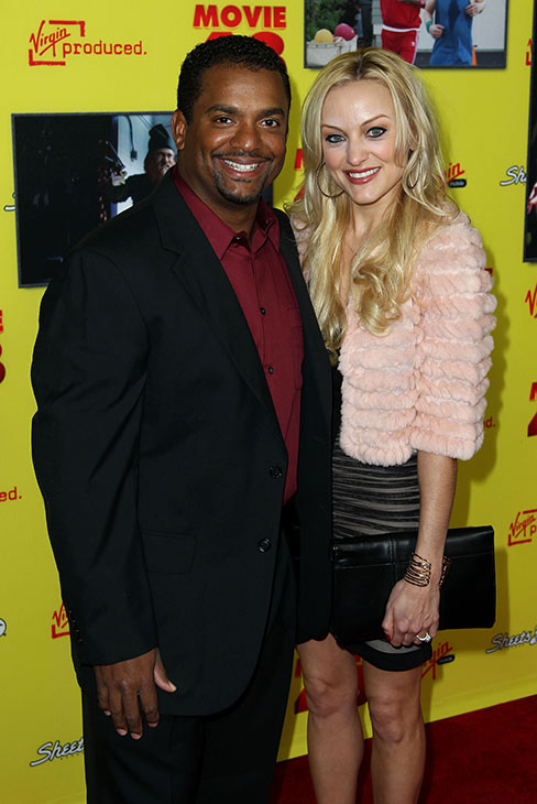 Alfonso Ribeiro, left, and Angela Unkrich attend...