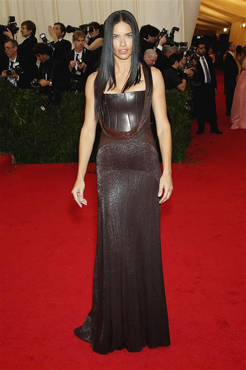 Victoria&#39;s Secret model Adriana Lima appears at the Metropolitan Museum of Art&#39;s 2014 Costume Institute Benefit gala, celebrating &#39;Charles James: Beyond Fashion,&#39; in New York on May 5, 2014. <span class=meta>(Richard Young &#47; Rex &#47; Startraksphoto.com)</span>