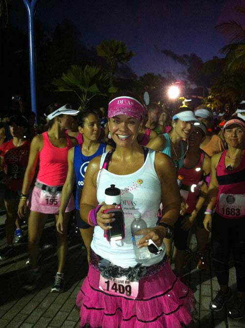 Ali Vincent appears at the Divas Half-Marathon in Long Island in East Meadow, New York on Oct. 6, 2013.