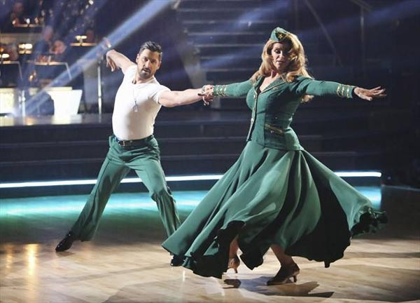 Actress Kirstie Alley and her partner Maksim Chmerkovskiy received 27 out of 30 points from the judges for their Viennese Waltz on  &#39;Dancing With The Stars: All-Stars,&#39; which aired on November 12, 2012. <span class=meta>(ABC &#47; OTRC)</span>