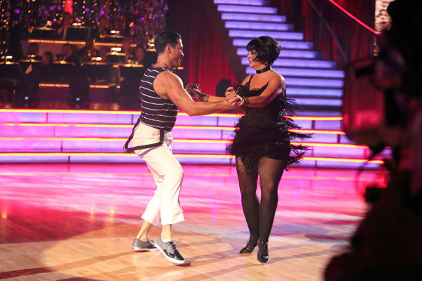 Actress Kirstie Alley and her partner Maksim Chmerkovskiy received 21 out of 30 points from the judges for their Jive on week two of &#39;Dancing With The Stars: All-Stars,&#39; which aired on Oct. 1, 2012. <span class=meta>(ABC &#47; Adam Taylor)</span>