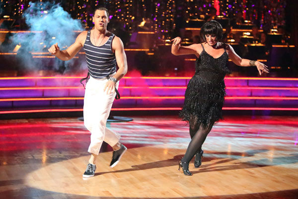 "<div class=""meta image-caption""><div class=""origin-logo origin-image ""><span></span></div><span class=""caption-text"">Actress Kirstie Alley and her partner Maksim Chmerkovskiy received 21 out of 30 points from the judges for their Jive on week two of 'Dancing With The Stars: All-Stars,' which aired on Oct. 1, 2012. (ABC / Adam Taylor)</span></div>"