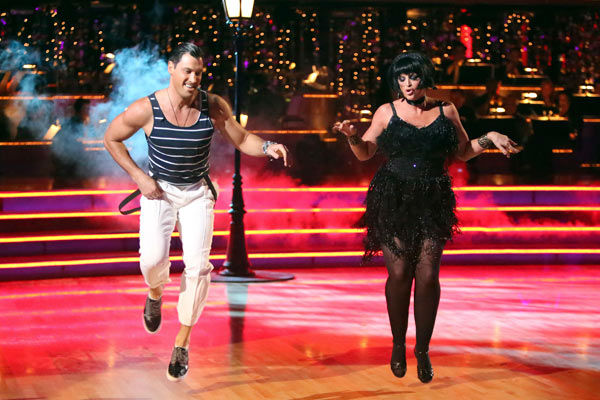 Actress Kirstie Alley and her partner Maksim Chmerkovskiy received 21 out of 30 points from the judges for their Jive on week two of 'Dancing With The Stars: All-Stars,' which aired on Oct. 1, 2012.
