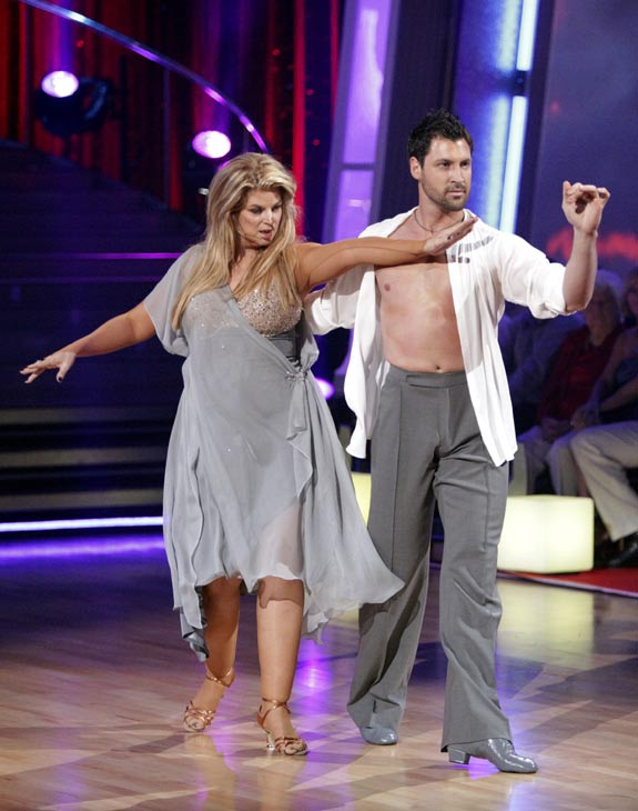 Kirstie Alley and her partner Maksim Chmerkovskiy dance Rumba on week three of 'Dancing With The Stars.' The c