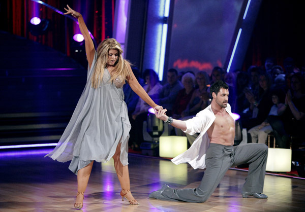 Kirstie Alley and her partner Maksim Chmerkovskiy dance Rumba on week three of 'Dancing With The Stars.' The couple received a 21 out