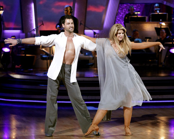 "<div class=""meta ""><span class=""caption-text "">Kirstie Alley and her partner Maksim Chmerkovskiy dance Rumba on week three of 'Dancing With The Stars.' The couple received a 21 out of 30 from the judges. (Adam Taylor / ABC)</span></div>"