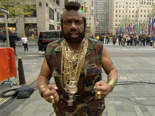 &#39;Today&#39; show host Al Roker dressed as Mr. T on Oct. 31, 2013 -- Halloween. <span class=meta>(twitter.com&#47;TODAYshow)</span>