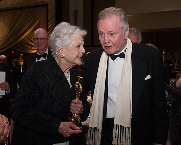 Honorary Award recipient Angela Lansbury appears with actor Jon Voight, father of Jean Hersholt Humanitarian Award recipient Angelina Jolie, at the 2013 Governors Awards at The Ray Dolby Ballroom at Hollywood and Highland Center in Hollywood, California on Saturday, Nov. 16, 2013. <span class=meta>(Michael Yada &#47; A.M.P.A.S.)</span>