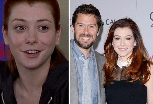 Alyson Hannigan rose to fame playing Willow on the 1990s series &#39;Buffy The Vampire Slayer,&#39; which ended in 2003. She played Jim Levenstein&#39;s girlfriend-turned-wife Michelle Flaherty in four major &#39;American Pie&#39; films, including the last one - &#39;American Reunion,&#39; which came out in 2012. In 2005, she had a recurring part on the series &#39;Veronica Mars,&#39; appeared in the 2006 film &#39;Date Movie&#39; and began starring in the CBS sitcom &#39;How I Met Your Mother.&#39; In October 2003, Hannigan married actor Alexis Denisof, who later played Sandy on &#39;How I Met Your Mother.&#39; They are parents to two daughters.  &#40;Pictured: Alyson Hannigan appears in a scene from &#39;American Pie 2&#39; in 2001. &#47; Alyson Hannigan appears with husband Alexis Denisof at The Hollywood Reporter&#39;s 22nd annual Women In Entertainment Breakfast honoring Oprah Winfrey at the Beverly Hills hotel in Beverly Hills, California on Dec. 11, 2013.&#41; <span class=meta>(Universal Pictures &#47; Lionel Hahn &#47; AbacaUSA &#47; Startraksphoto.com)</span>