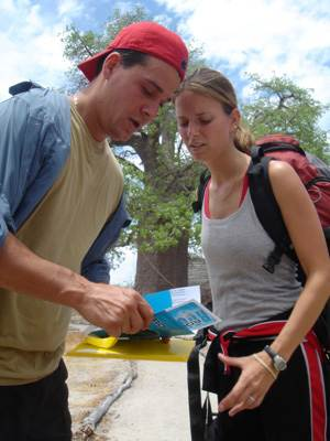 Amber and Rob Mariano in a scene from 'The Amazing Race.'