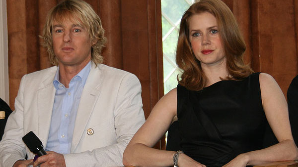 Amy Adams appears in a photo alongside co-star Owen Wilson in May 2009 for an interview promoting their 2009 film 'Night at the Museum: Battle of the Smithsonian.'