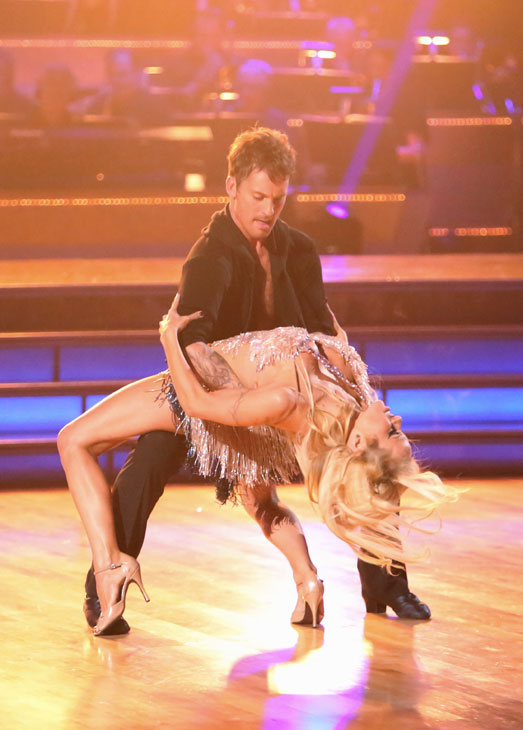 Former Playboy Playmate and &#39;Batwatch&#39; alum Pamela Anderson and her partner Tristan MacManus received 17 out of 30 points from the judges for their Cha Cha Cha on the season premiere of &#39;Dancing With The Stars: All-Stars,&#39; which aired on September 24, 2012. <span class=meta>(ABC &#47; Adam Taylor)</span>