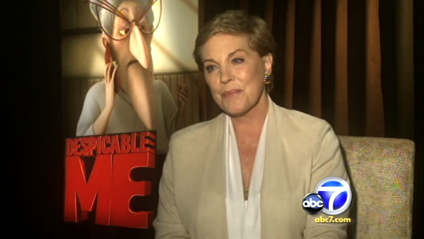 "<div class=""meta image-caption""><div class=""origin-logo origin-image ""><span></span></div><span class=""caption-text"">Julie Andrews turns 77 on Oct. 1, 2012. The actress and Broadway star is known for her work in the classic 1964 Disney film 'Mary Poppins,' 'The Sound of Music' and 'The Princess Diaries' movies. She also provides the voice of the Queen in the 'Shrek' films and Gru's Mom in 'Despicable Me.'Pictured: Julie Andrews talks to KABC Television, OTRC.com's parent company, about the animated film 'Despicable Me' in July 2010.) (KABC)</span></div>"