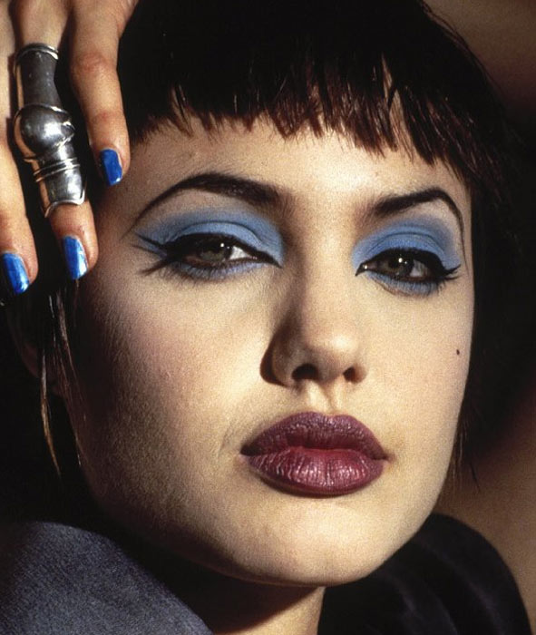 Angelina Jolie appears in a scene from the 1995 film 'Hackers.'