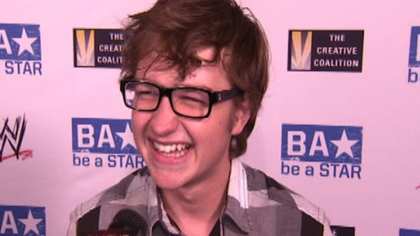Angus T. Jones speaks to OnTheRedCarpet.com at the WWE SummerSlam Kickoff event in Los Angeles on Aug. 11, 2011.