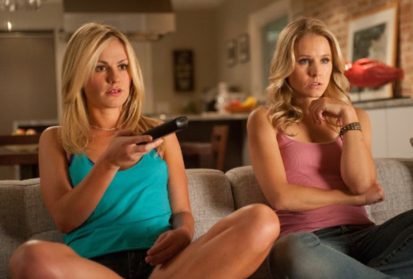 Anna Paquin, alongside stars Kristen Bell, Neve Campbell, Courteney Cox, and David Arquette, starred in Wes Craven&#39;s 2011 horror film &#39;Scream 4.&#39; &#40;Pictured: Anna Paquin and Kristen Bell appear in a scene from the 2011 film &#39;Scream 4.&#39;&#41; <span class=meta>(Dimension Films)</span>