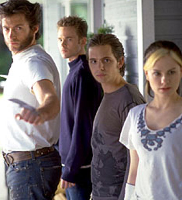 From left, Hugh Jackman, Shawn Ashmore, Aaron...