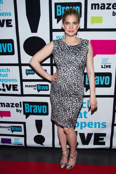 Anna Chlumsky of 'My Girl' and 'Veep' fame appears on Andy Cohen's Bravo talk show 'Watch What Happens Live' on March 27, 2013. The actress announced that day that she is pregnant with her and husband Shaun So's first child.