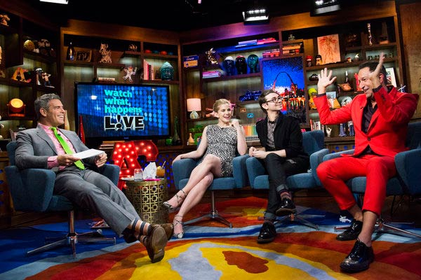 Anna Chlumsky of 'My Girl' and 'Veep' fame appears with Christian Siriano on Andy Cohen's Bravo talk show 'Watch What Happens Live' on March 27, 2013. The actress announced that day that she is pregnant with her and husband Shaun So's first child.