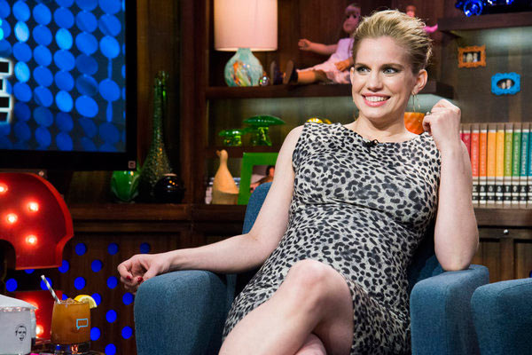 Anna Chlumsky of 'My Girl' and 'Veep' fame appears on Andy Cohen's Bravo talk show 'Watch What Happens Live' on March 27, 2013.