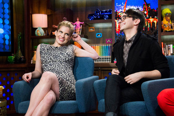 Anna Chlumsky of 'My Girl' and 'Veep' fame appears with Christian Siriano on the Bravo talk show 'Watch What Happens Live' on March 27, 2013.