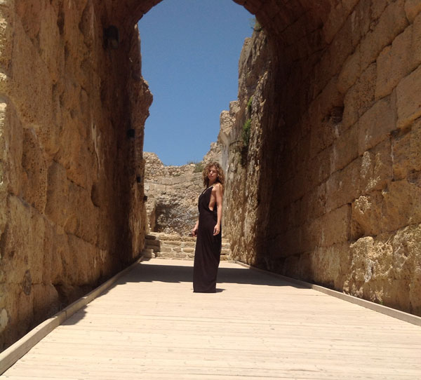 AnnaLynne McCord of the CW show '90210' appears in Caesarea during a celebrity trip to Israel on May 7, 2012.